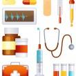 Медицина икона set — Cтоковый вектор