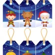 Christmas gift tags — Stock Vector #2014588