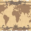 Stock Vector: Old map