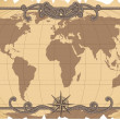 Old map — Stock Vector