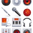 Vettoriale Stock : Sound icon set