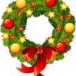 Royalty-Free Stock Векторное изображение: Christmas wreath