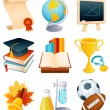 Royalty-Free Stock Vector Image: Education icon set