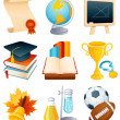 Education icon set — Stock Vector #2014889