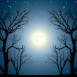 Royalty-Free Stock Vector Image: Moon trees