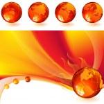 brandende globe — Stockvector