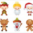 Christmas characters — Stock Vector #2015336