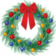 Christmas wreath — Stock Vector