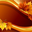 Autumn background - Grafika wektorowa
