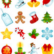 Royalty-Free Stock Векторное изображение: Christmas icons