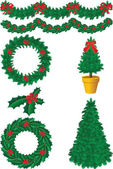 Christmas decor — Stockvector