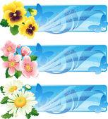 Flower banner — Stock Vector