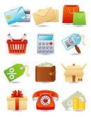 Icona dello shopping — Vettoriale Stock