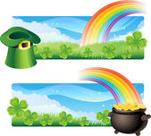 St. patrick's banners — Stock Vector