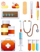 Medicine icon set — Stock Vector