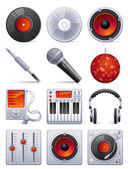 Sound icon set — Stock Vector