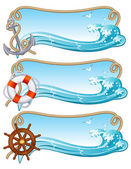 Sailing banner — Stock Vector