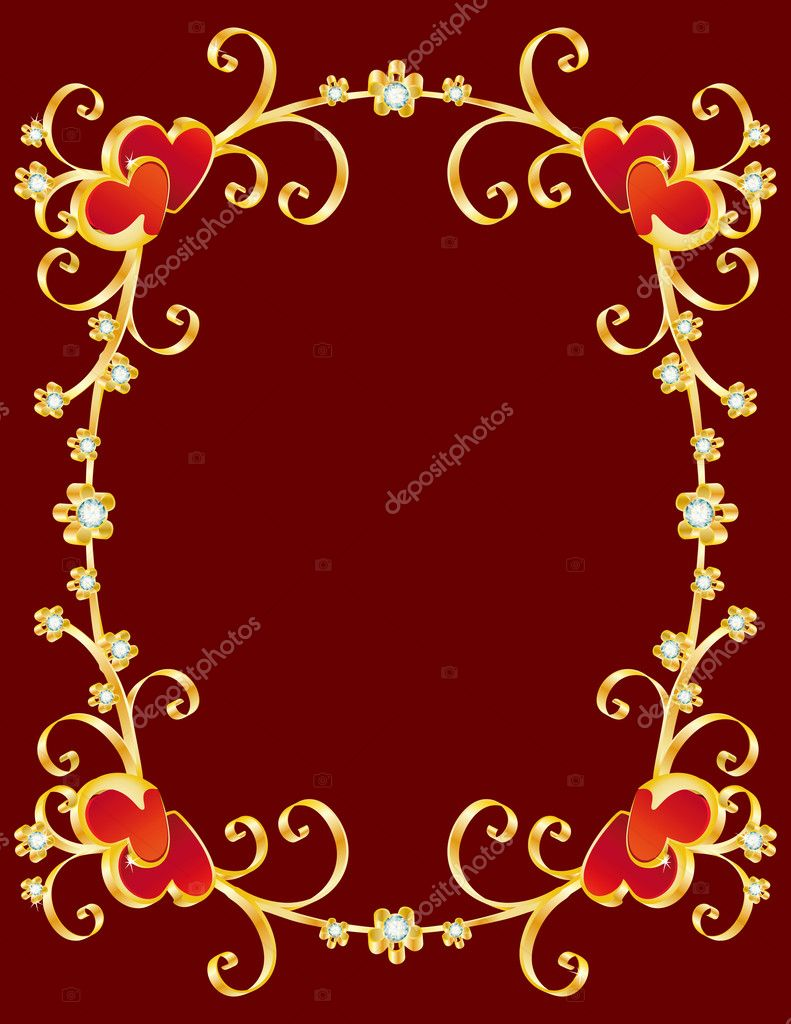 Vector illustration - valentine's day border — Stock Vector #2010235