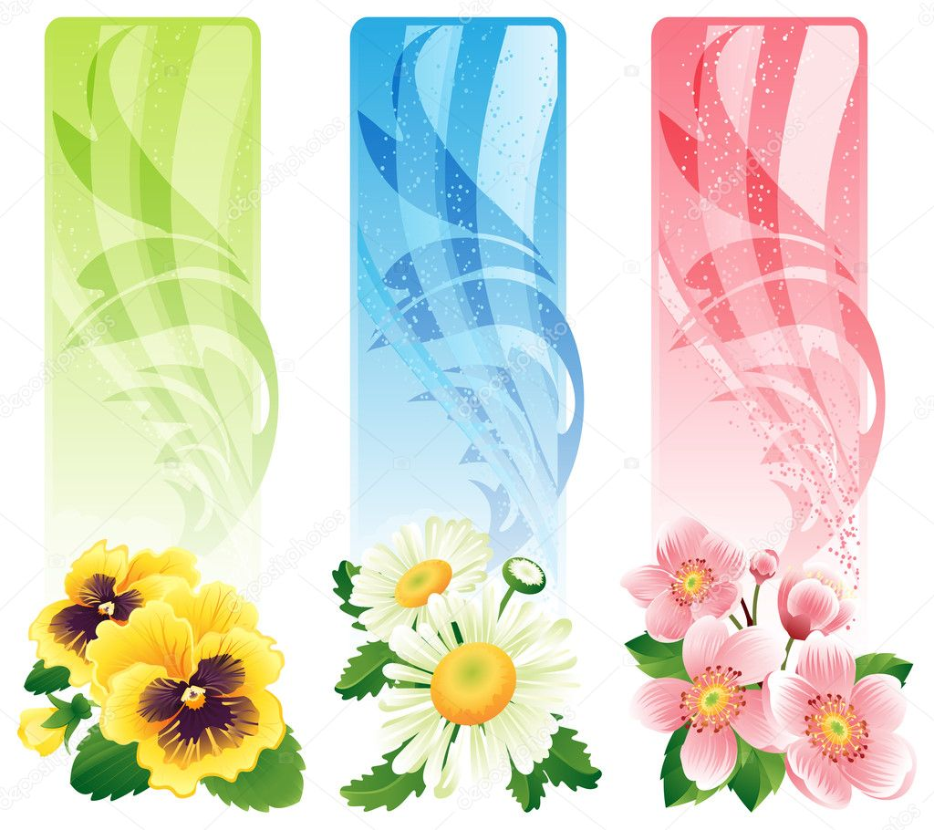 Vector illustration - Flower banners — Stock Vector #2011491