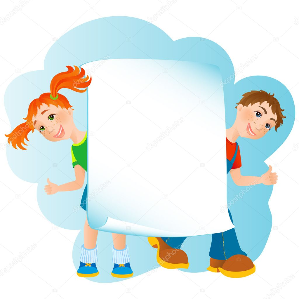 Vector illustration - kids banner — Stock Vector #2011902