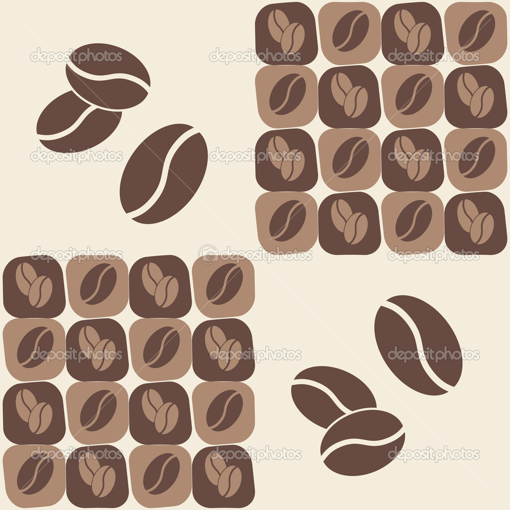 Vector illustrations - coffee bean seamless pattern — Stock Vector #2013688