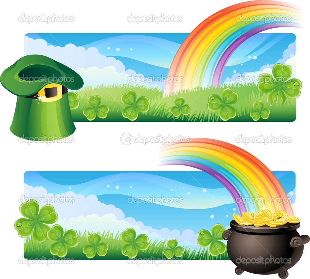 Vector illustration - set of  st. patrick's banner  Stock Vector #2014446