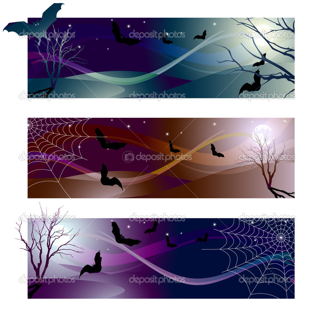 Vector illustration - halloween banner color variations — Stock Vector #2014634
