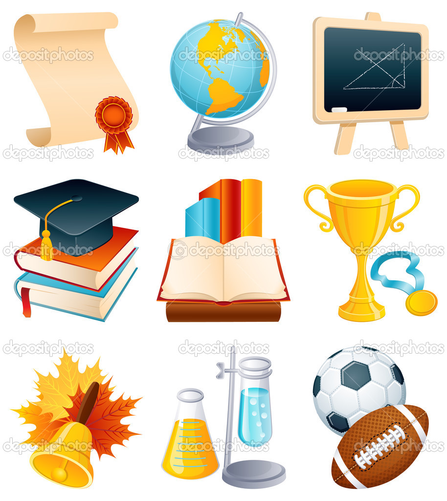Vector illustration - Education and graduation icon set.  Stock Vector #2014889