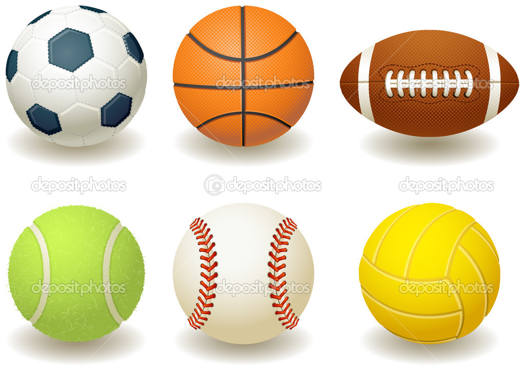 Vector illustration - Balls for team sports  Stock Vector #2015058
