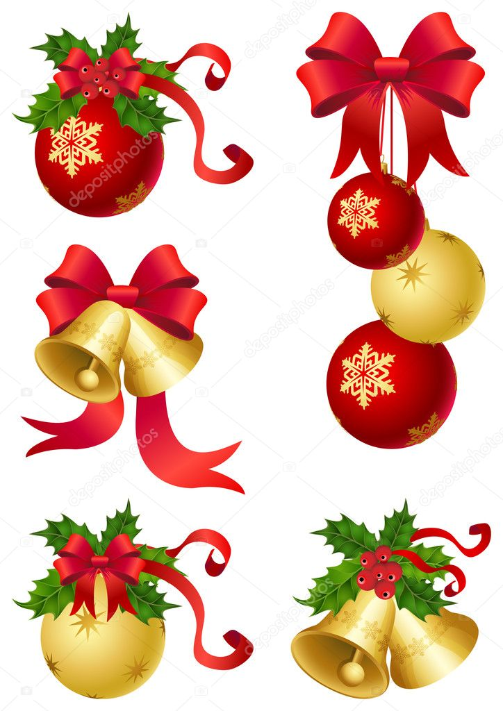 Vector illustrations - christmas ornaments icon — Stock Vector #2015335