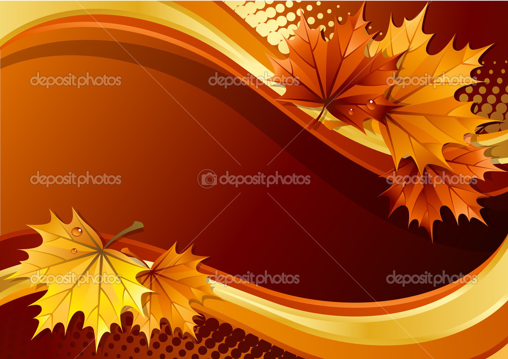 Vector illustration - autumn leaves background  Stock Vector #2015406