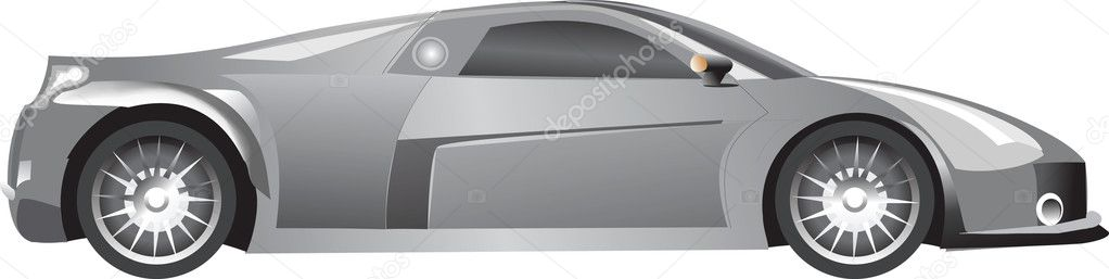 The silvery car with the blacked out glasses — Stock Vector #2472790