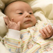 Newborn baby in diapers — Stock Photo