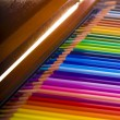 Colored pencils in box — Stockfoto #1597925