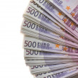 Stock Photo: Lot of Euro banknotes money