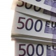 Stock Photo: A lot of Euro banknotes money