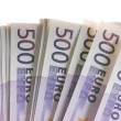 Euro banknotes money — Stock Photo