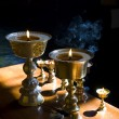 Royalty-Free Stock Photo: Burning oil lamps
