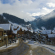 Alpine village in winter — Foto de Stock