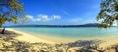 熱帯のビーチのパノラマ — ストック写真
