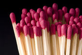 Matches on a black background — Stock Photo