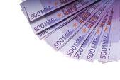 евро деньги банкноты — Стоковое фото
