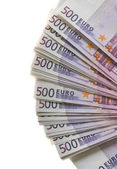 A lot of Euro banknotes money — 图库照片