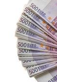 Un montón de dinero de los billetes de euro — Foto de Stock
