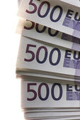 A lot of Euro banknotes money — ストック写真