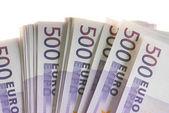 Euro bankovky peníze — Stock fotografie