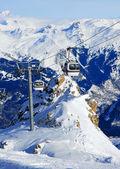 Ski funicular — Stock Photo