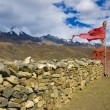 Tibetan wall of stone — Stock Photo