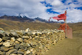 Tibetan wall of stone — Stockfoto