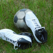 Royalty-Free Stock Photo: Soccer sportshoes & ball